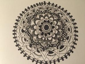 A Zentangled Mandala