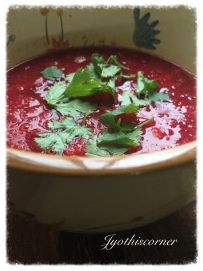 Vegetarian Low fat Low Carb Vinegar BeetSoup