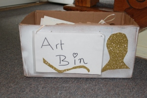 DIY Art Bin to Organize Children's Art