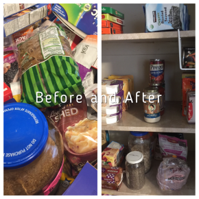 Reducing Stress by having an Organized Pantry